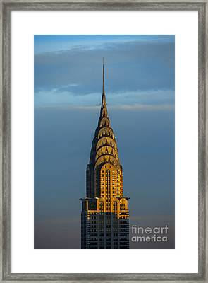 Chrysler Building In The Evening Light Framed Print by Diane Diederich