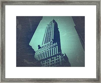 Chrysler Building  Framed Print by Naxart Studio