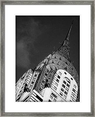 Chrysler Building's Apex Framed Print