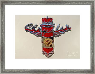 Chrysler Hood Logo Framed Print