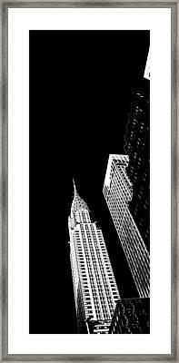 Chrysler Nights Framed Print by Az Jackson