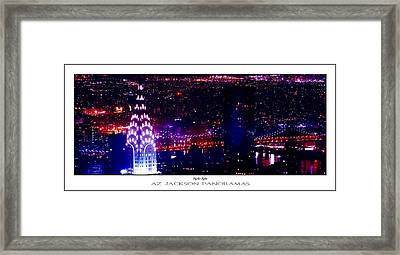 Chrysler Nights Poster Print Framed Print by Az Jackson
