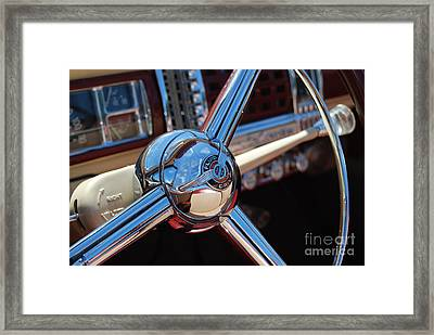 Chrysler Town And Country Steering Wheel Framed Print by Larry Keahey