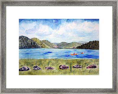 Chrystal Lake  Barton Vt  Framed Print by Donna Walsh