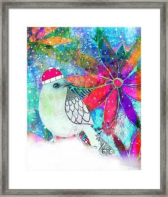 Chrystal The Snow Bird Framed Print by Robin Mead
