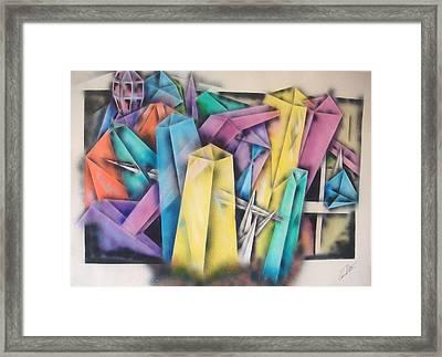Chrystals Framed Print