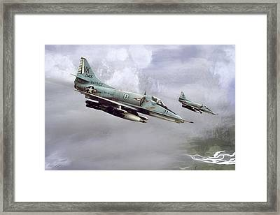 Chu Lai Skyhawks Framed Print by Peter Chilelli