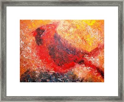 Chubby Cardinal Framed Print