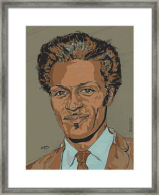 Chuck Berry - Brown-eyed Handsome Man  Framed Print by Suzanne Gee