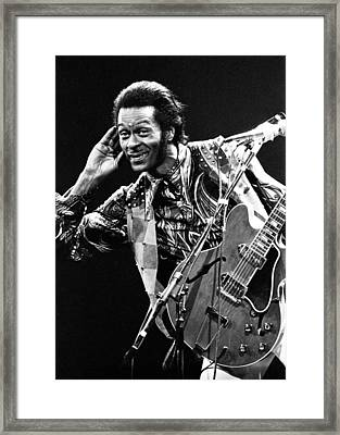 Chuck Berry 1973 Framed Print by Chris Walter