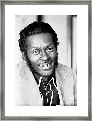 Chuck Berry Framed Print by Chris Walter