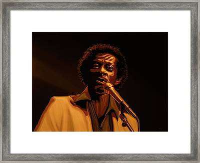 Chuck Berry Gold Framed Print