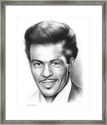 Chuck Berry Framed Print by Greg Joens