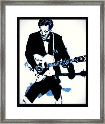 Chuck Berry Rock N Roll Framed Print by John Springfield