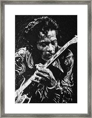 Chuck Berry Framed Print by Taylan Apukovska