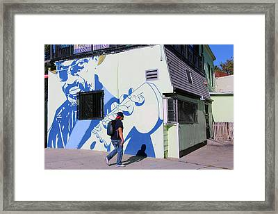 Chuck Brown Mural -- The Godfather Of Go Go Framed Print by Cora Wandel