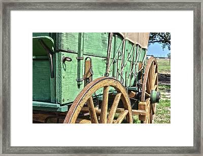 Chuck Wagon Wheels Framed Print