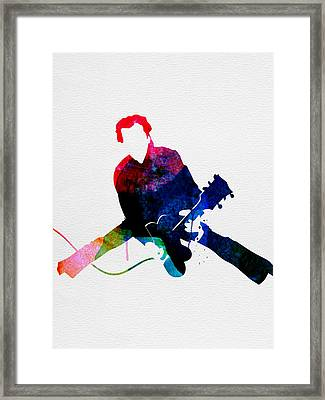 Chuck Watercolor Framed Print