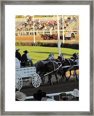 Chuckwagon Races Framed Print