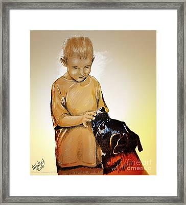 Chuey And Me II Framed Print by Arne Hansen