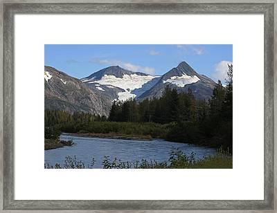Chugach Mountains Framed Print by Dave Clark