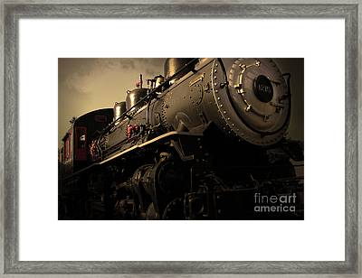 Chugging Across America In The Age Of Steam . Golden Cut . 7d12980 Framed Print by Wingsdomain Art and Photography
