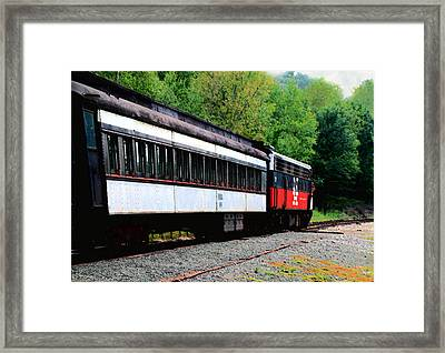 Framed Print featuring the photograph Chugging Along by RC DeWinter