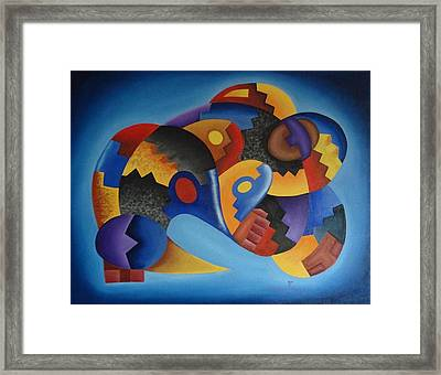 Chujllas Mayu Apu Framed Print by Fernando  Ocampo Sandy