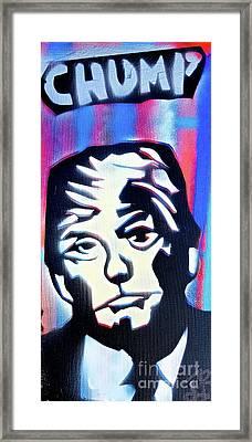 Chump Trump Framed Print by Tony B Conscious