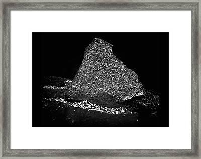 Chunk Of Ice Framed Print