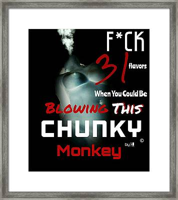 Chunky Monkey  Framed Print by DesignsBy HI