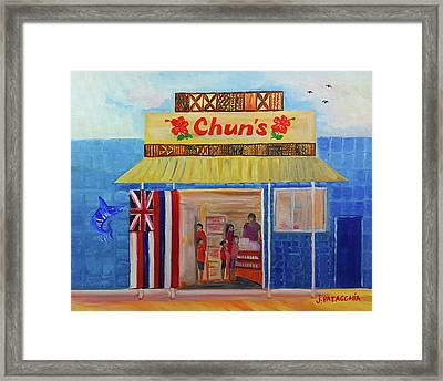Chuns Store, Haleiwa Hawaii Framed Print by Julie Patacchia