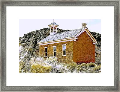 Church - Grafton Utah Framed Print