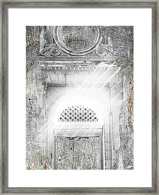 Church And Light Framed Print by Tony Rubino