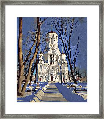 Church And Peace Framed Print by Yury Malkov