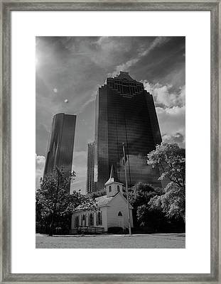 Church And State Black And White Framed Print