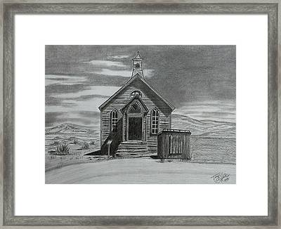 Church  At Bodie  Framed Print