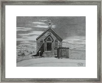 Church  At Bodie  Framed Print by Tony Clark