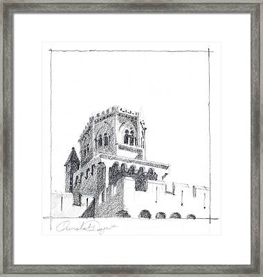 Church At Chamalieres Framed Print