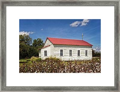 Church At Frogmore Plantation Framed Print by Frank J Benz