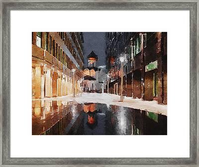 Church At Night 2 Framed Print by Yury Malkov