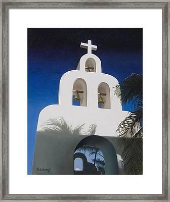 Church At Playa Del Carmen Framed Print by Kirk Graham