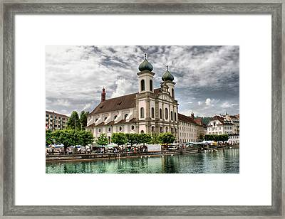 Church At The River Framed Print by Greg Sharpe
