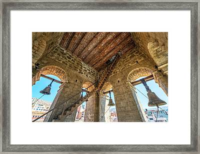 Church Bell Tower In La Paz Framed Print