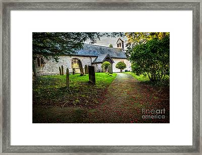 Church Berries Framed Print by Adrian Evans