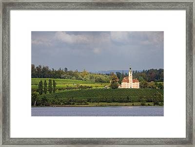 Church Birnau Lake Constance In Great Landscape Framed Print by Matthias Hauser