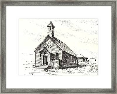 Church Bodie Ghost Town California Framed Print by Kevin Heaney