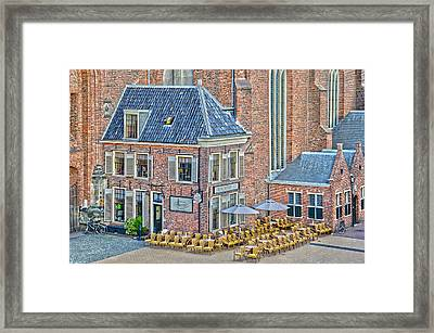 Framed Print featuring the photograph Church Cafe In Groningen by Frans Blok