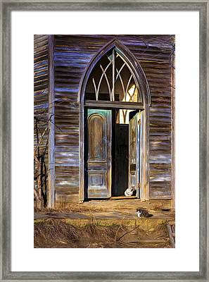 Church Cats Framed Print by Nikolyn McDonald