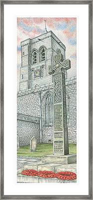 Church Clock Framed Print by Sandra Moore